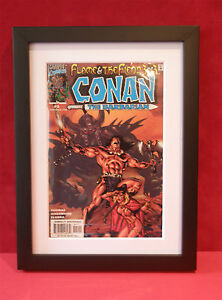 Comic Book Wooden Frame in black with Mount