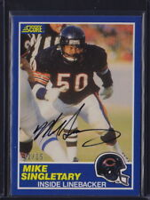 2018 PANINI CLASSICS BUY BACK ON CARD AUTO 1989 SCORE MIKE SINGLETARY BEARS /15
