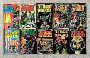 Eagle Comics Judge Dredd #1 - 10  (10 Book Lot)