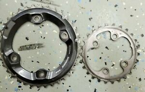 Shimano XT M8000 Chainrings 36/26T 2x11 Speed 4-Bolt 96mm BCD Dyna-Sys 11