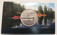 2011 1/4 Oz Canada $20 Canoe Mint Brilliant Uncirculated .999 Fine Silver Coin