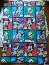 Mickey Mouse Donald Duck Goofy Minnie Comforter Blanket - Twin Bed Size Vintage