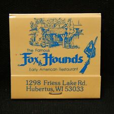 Fox Hounds Early American Restaurant Hubertus, Wis. Rear Strike, 30 Strike