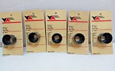 """5 X Vermont American 1 3/8"""" Carbon Hole Saw 18322"""