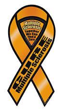 Magnetic Bumper Sticker - Multiple Sclerosis Awareness - Ribbon Support Magnet