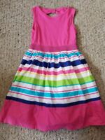 THE CHILDREN'S PLACE Striped Skirted Sleeveless Dress Size 7-8