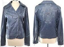Harley Davidson Bomber Jacket Blue Grey XL - Corset Laces | Embroidered Big Logo