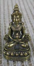"Small Brass Amitayus Buddha Statue for Dharma & Long Life in Tibet 1 1/4"" High"