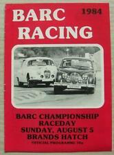 BRANDS HATCH 5 Aug 1984 BARC CHAMPIONSHIP RACEDAY A4 Official Programme