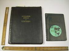 2 MAP Books MOLLER'S GUIDE TO VENTURA COUNTY 1957 + Renie Atlas Cities RARE set