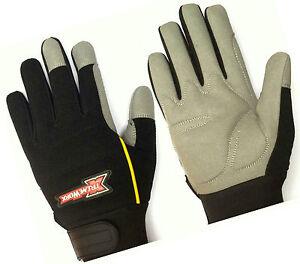 Mechanics Work Safety Tradesman Builders Men's Outdoor Gardening Workshop Gloves