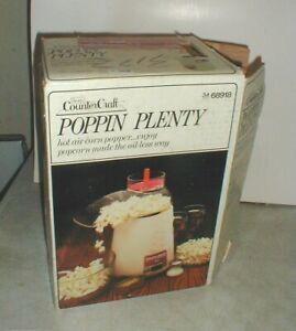 NEW Vintage Poppin Plenty Sears Hot Air PopCorn Corn Popper in Original Box NOS
