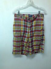Polo by Ralph Lauren shorts boys size 20 plaid casual shorts 30 x  12 cotton