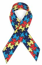 Autism Fabric Awareness Ribbons - 250 Ribbons with Safety Pins