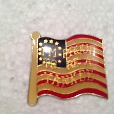 New listing Rare Vintage I'M Proud To Be A Yankee Us Flag Enamel Pin
