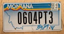 """MONTANA  VANITY LICENSE PLATE """" 0604PT3 """"  ZERO TO 60 IN 4.3 SECONDS FAST FASTER"""