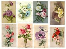 FRENCH FURNITURE DECAL DIY SHABBY CHIC IMAGE TRANSFER VINTAGE LABEL ROSE KLEIN