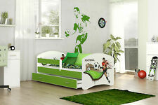 Kinderbett 160x80 Matratze+Schublade+Lattenrost Fußball NEU B-Ware
