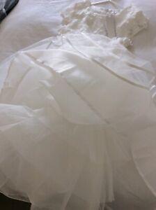 DEBENHAMS Ivory Tulle sparkly Flower girl, Bridesmaid dress with bag 9/10