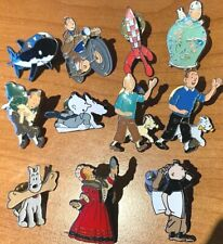 More details for rare moulinsart tintin character & item pin badges buy individually herge shark