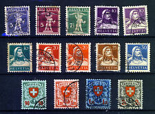 SUISSE 1924 arbalète, dites & bouclier valeurs élevées groupe SG 326 To SG 335 VFU