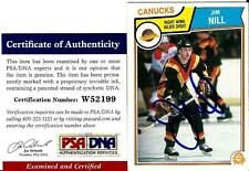 1983 OPC O Pee Chee Jim Nill VANCOUVER CANUCKS Signed Trading Card PSA/DNA #1