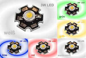HIGHPOWER 3W LED Chip Hochleistung LEDs auf Platine High-Power  3 Watt
