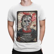 Halloween Jason T-shirt Police Line Up Gift Dad Murder Retro MOVIE 70s 80s Gift