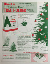 """Christmas Ease"" Tree Holder Vintage Brochure, Steel-Bilt Construction Co."