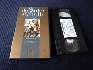 VHS Video Tape The Barber Of Seville ROSSINI Rawnsley Ewing Cambreling 1982