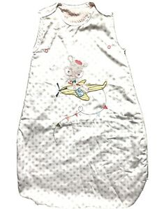 Mamas & Papas Baby Girls 0-6 Month  White Polka Dot 2.5 Tog Sleeping Bag VGC