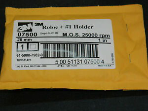 "(1) NEW 3M 07500 MANDREL ROLOC+ #1 HOLDER ADAPTER M.O.S. 25,000 RPM 1"" DIAMETER"