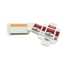 Dollhouse White Marlboro Cigarette Case with 10 Cigarettes Miniature Accessories