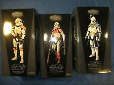 BOXES ONLY! STAR WARS COMMANDER CODY CAPTAIN REX IMPERIAL SHOCK TROOPER SIDESHOW