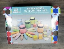 Chalk Party Outdoor Art Set Kid Made Modern Paintable chalk brushes & mixers