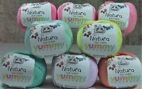 1 x DMC Crochet Knitting Cotton Natura Just Cotton Yummy Colours 100% Cotton