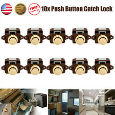 10x Push Button Catch Lock For Cabinet Motorhome Cupboard Boat Camper Kitchen