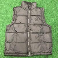 Vintage Akademiks Black Puffer Zip Up Vest Mens Large