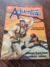 Vintage Adventure Pulp Magazine Book 1936 February Sergeant Black Sheep