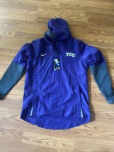 NWT TCU Nike On Field Apparel Pullover Jacket Quarter Zip Size Medium  $100 MSRP