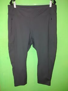 5167) NWOT J JILL FIT 2X black Out & About Capri Legging pants new 2X