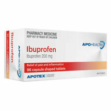 APOHEALTH Ibuprofen 200mg Capsule Shaped Tablets (Pack of 96)