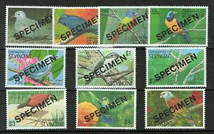 Grenadines Of St. Vincent 1990 Birds of the Caribbean SPECIMEN Overprined #2977