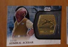 Topps STAR WARS Force Awakens Serie 2 Card MEDALLION 35 ACKBAR /50 Carte Rare