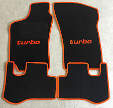 Autoteppich Fußmatten für Fiat Coupe 16V + 20V + Turbo 1993-00' schw/orange Neu