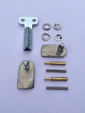 GAS / ELECTRIC METER BOX REPAIR KIT - 2x Metal Latch, 2x Hinges, Long Metal Key