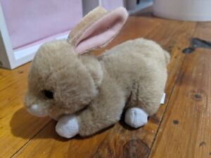 """TY 'Bunnie"""" Brown White Baby Bunny Plush Collectable 2015"""