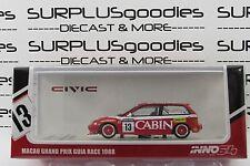 INNO64 1:64 Scale HONDA CIVIC EF3 Macau Grand Prix Guia Race 1988 Team CABIN #13