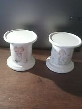 Pair of Vintage 1970's Betsey Clark Hallmark Candle Holder Pillar Stands