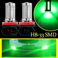 2pcs Green H8 H11 33SMD 5730Chip LED Lens Bulbs For Car Driving Fog Lights